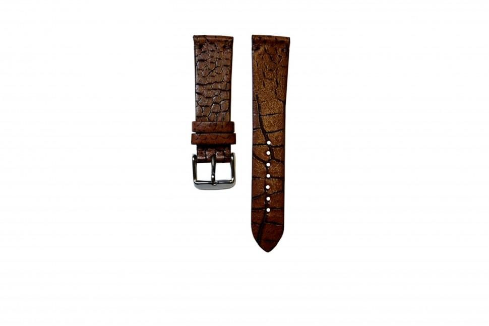 Pasek skóra brązowy alig. 22mm