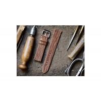 Pasek 1 skórzany, wykonany ręcznie, szerokość paska 18mm